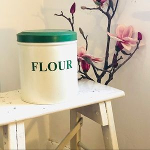 Vintage flour canister made in England